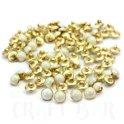 Pearl Button 10mm