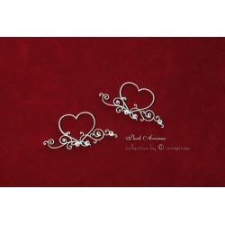 Chipboard - Wedding & Love, Hearts