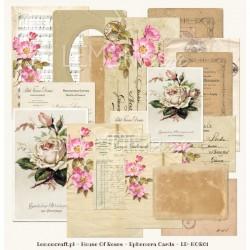 Ephemera cards-House of Roses