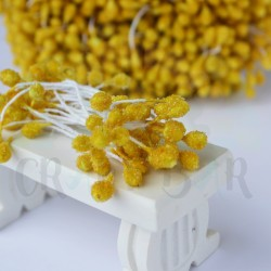 Micro-beads stamen 5 mm-YELLOW