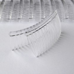 Plastic Clear Side Comb - 1 pair