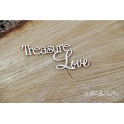 Chipboard - Treasure Love- text