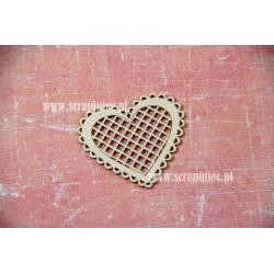 Chipboard - Heart with a chequered pattern