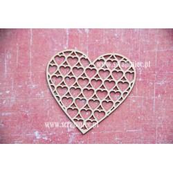 Chipboard - frame heart