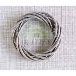 Wicker Wreath 15 cm - white