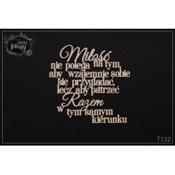 """Chipboard - Polish text - """"Miłość nie polega na.."""