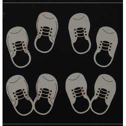 Chipboard - Baby Shoes - Boy