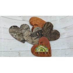 Birch Bark Heart - dark (large)