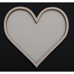 Chipboard - Shaker Cards MEDIUM HEART
