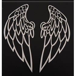 Chipboard- Big wings/2pcs
