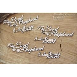 """Chipboard - set of words """"Lord  is my Shepherd"""""""