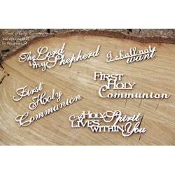 Chipboard - First Holy Communion set of words