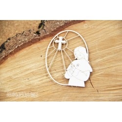 Chipboard - First Communion Girl with cross