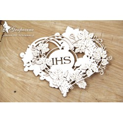 Chipboard - Grapevine - 2 layers heart frame with host