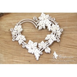 Chipboard - Grapevine - 2 layers heart frame