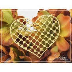 Chipboard -Heart openwork - STARS
