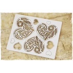 Chipboard -Hearts (Mandalas)
