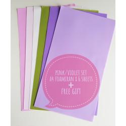 Foamiran A4 Set - Pink/Violet