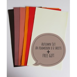 "Foamiran A4 Set - ""Autumn"""