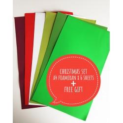 "Foamiran A4 Set - ""Christmas"""