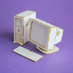 Chipboard - Stationary Computer PC (3D)