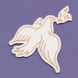 Chipboard -Pigeon with a branch