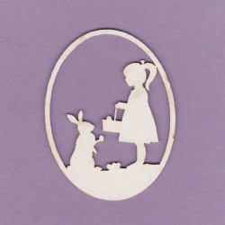 Chipboard - Easter egg/Girl