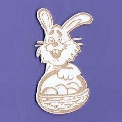 Chipboard - Easter Happy Rabbit
