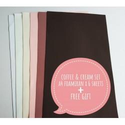 "Foamiran A4 Set - ""Coffee & Cream "" (021)"