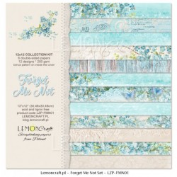 Scrapbooking Papers - Forget me not (12x12)