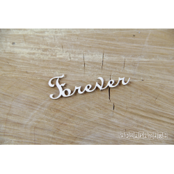"""Chipboard -text """"Forever"""" x2"""