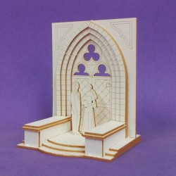 Chipboard -Couple in front of the chapel 3D