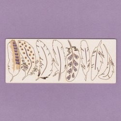 Chipboard - Feathers (8pcs)