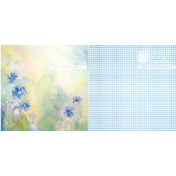 Scrapbooking Paper -Cornflowers(Single Page)