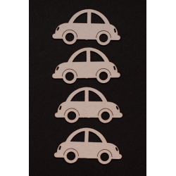 Chipboard -Small Cars /4pcs