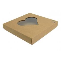 Box 15X15 with HEART window - ECO
