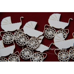 Chipboard - Retro Mini Pram /1 pcs
