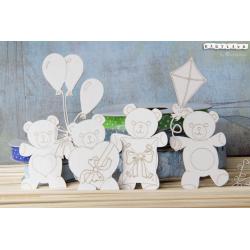 Chipboard -Teddy Bears BIG set/4pcs