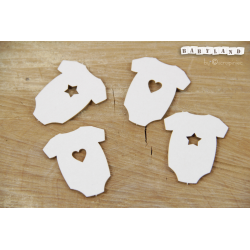 Chipboard - Body with Heart & Star /4pcs
