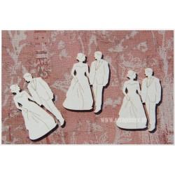 "Chipboard-Mini bridegroom ""A""/3pairs"
