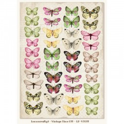 Scrapbooking Paper- Die Cut A4 Sheet   Butterflies 03