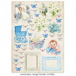 Scrapbooking Paper- Die Cut A4 Sheet Lullaby Boy