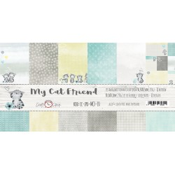 Scrapbooking Papers - MY CAT FRIEND (12x12)