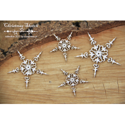 Chipboard - 4 Snowflakes