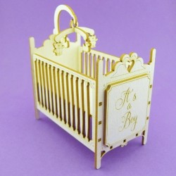 Chipboard - Baby Crib (3D)