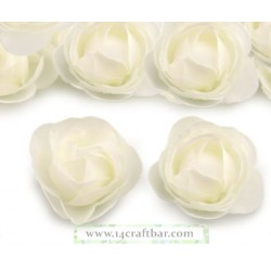 Silk Rose 3.5 cm / 10 pcs /CREAM