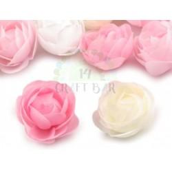 Silk Rose 3.5 cm / 10 pcs /CREAM