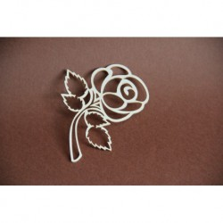 Chipboard - Single Rose /short