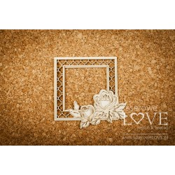 Chipboard - Frame Rose