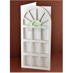 Blank Card - DOOR / white (15x15)